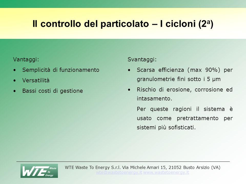 Il controllo del particolato – I cicloni (2a)