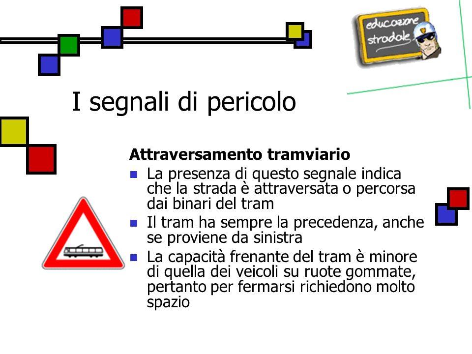 I segnali di pericolo Attraversamento tramviario