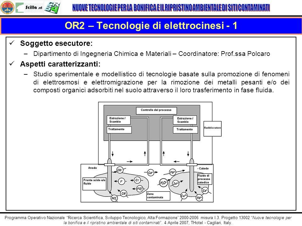 OR2 – Tecnologie di elettrocinesi - 1