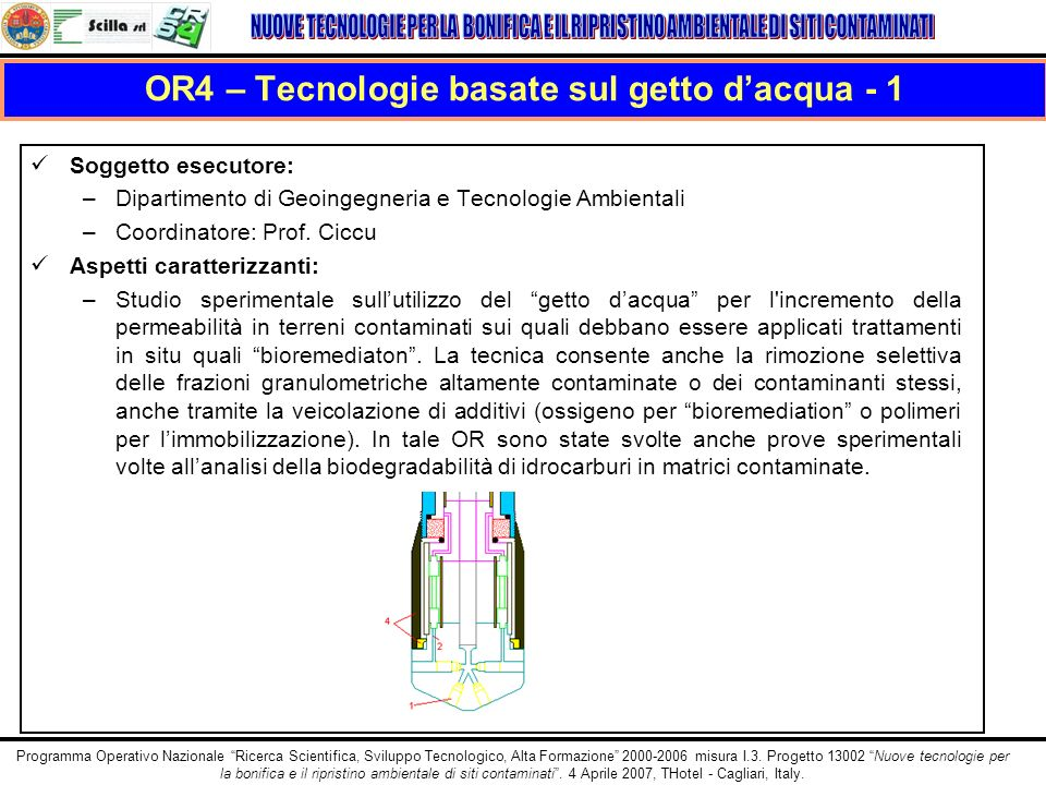 OR4 – Tecnologie basate sul getto d'acqua - 1