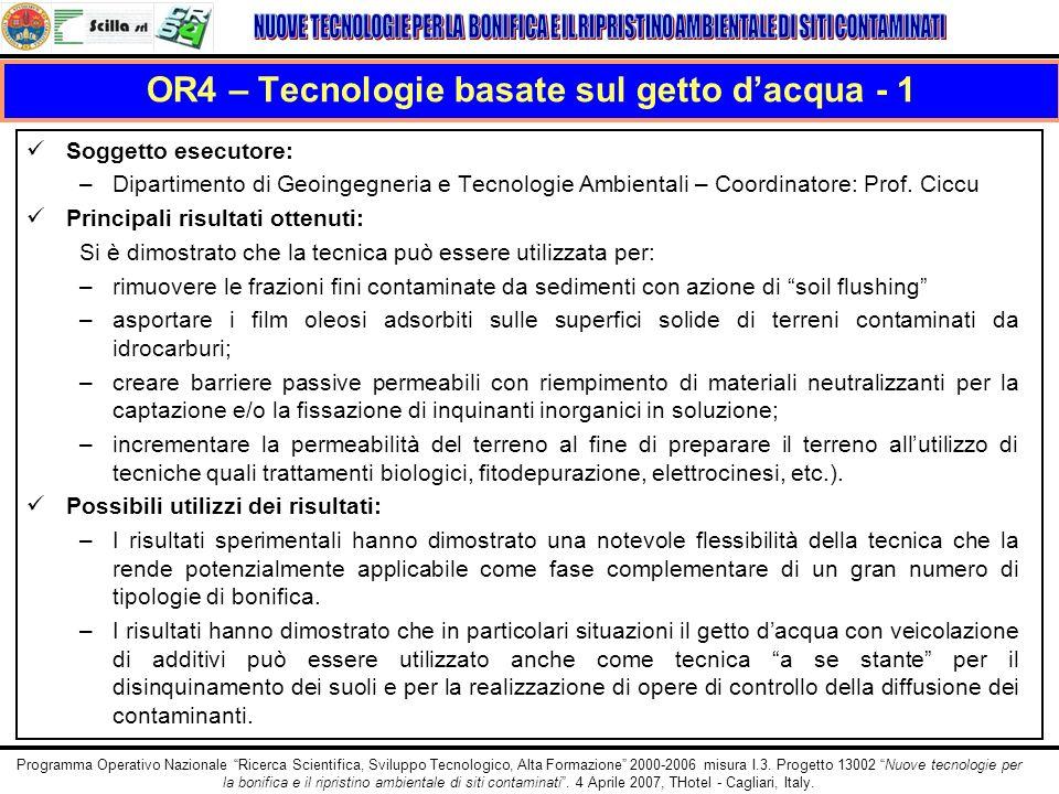 OR4 – Tecnologie basate sul getto d'acqua - 1