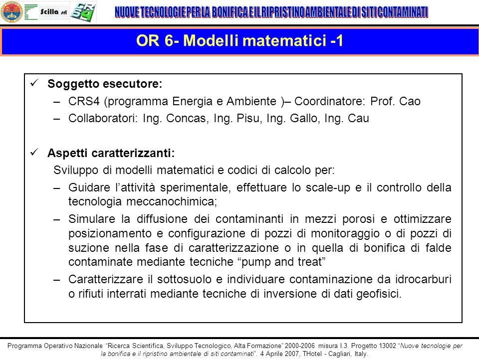 OR 6- Modelli matematici -1