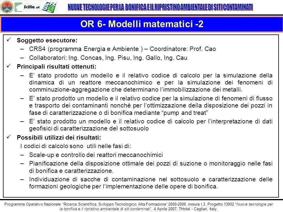 OR 6- Modelli matematici -2