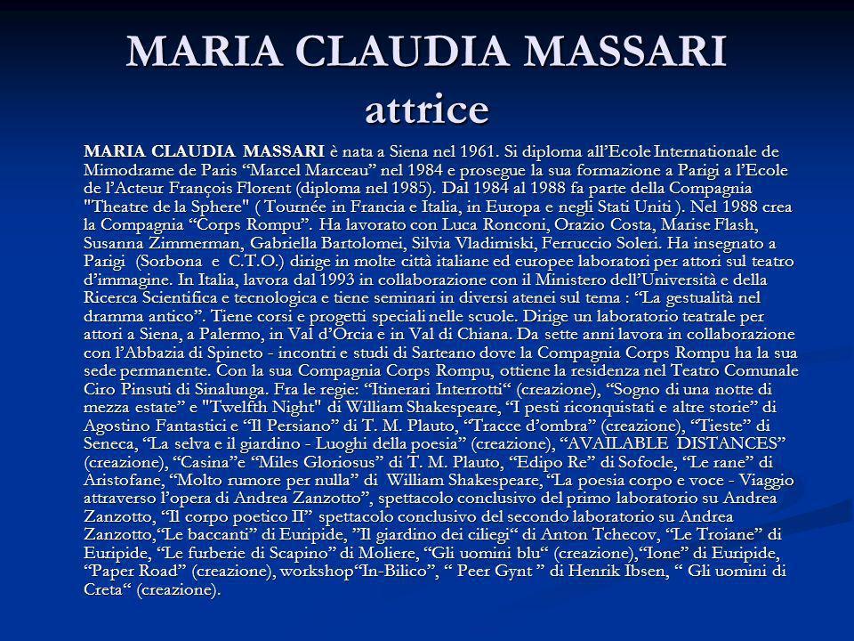 MARIA CLAUDIA MASSARI attrice