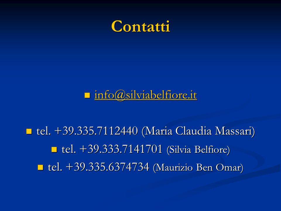 Contatti info@silviabelfiore.it