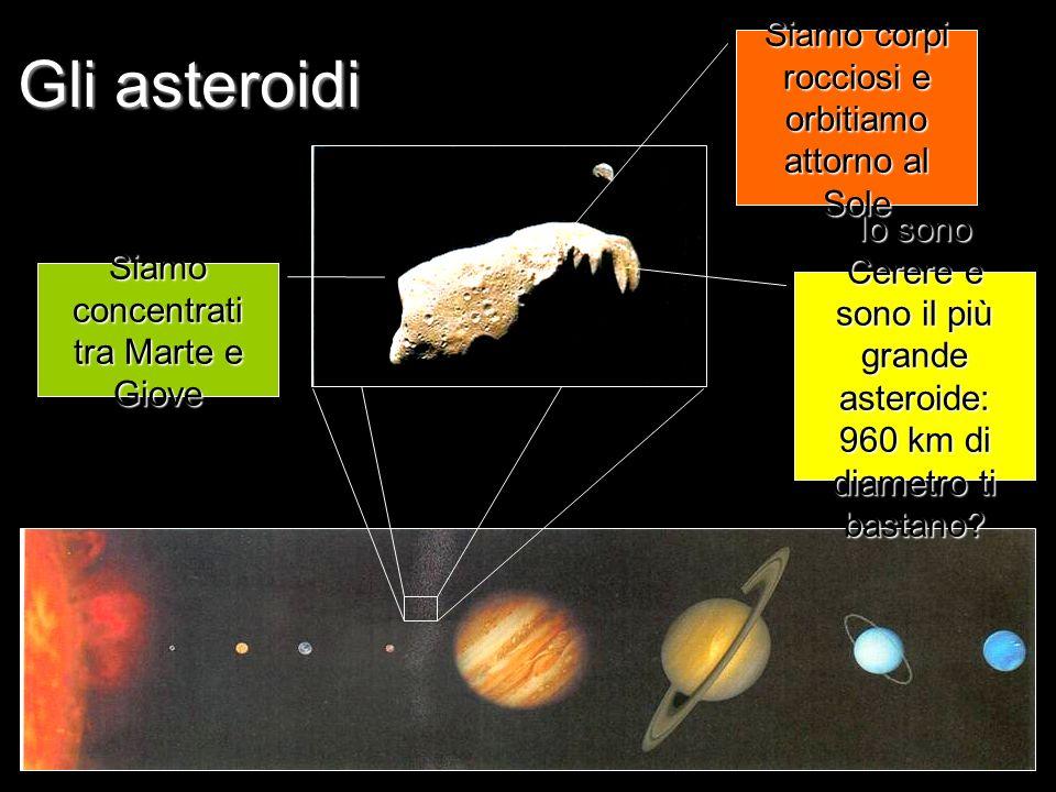 Gli asteroidi Siamo corpi rocciosi e orbitiamo attorno al Sole