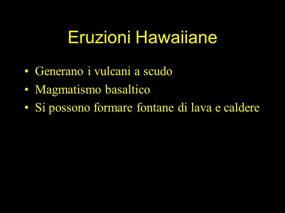 Eruzioni Hawaiiane Generano i vulcani a scudo Magmatismo basaltico