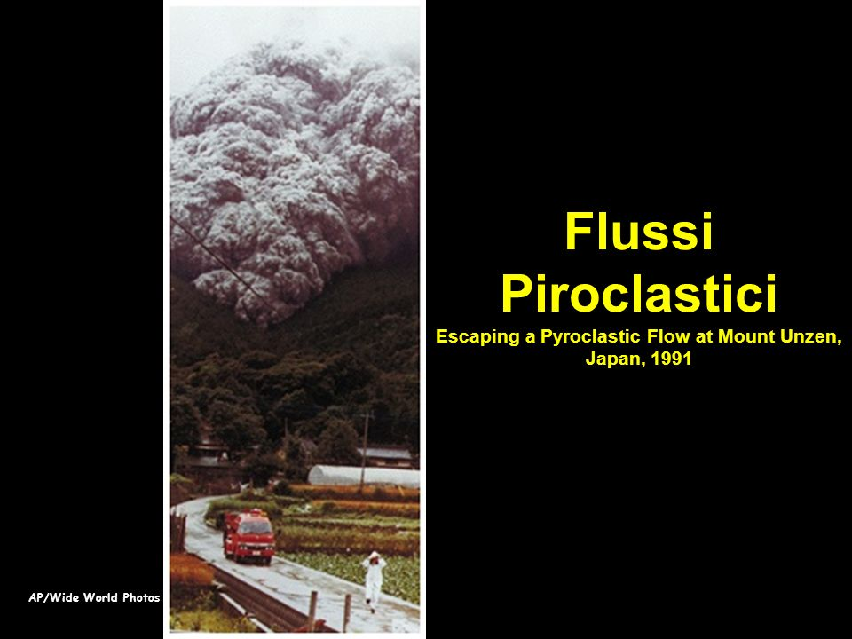 Flussi Piroclastici Escaping a Pyroclastic Flow at Mount Unzen, Japan, 1991