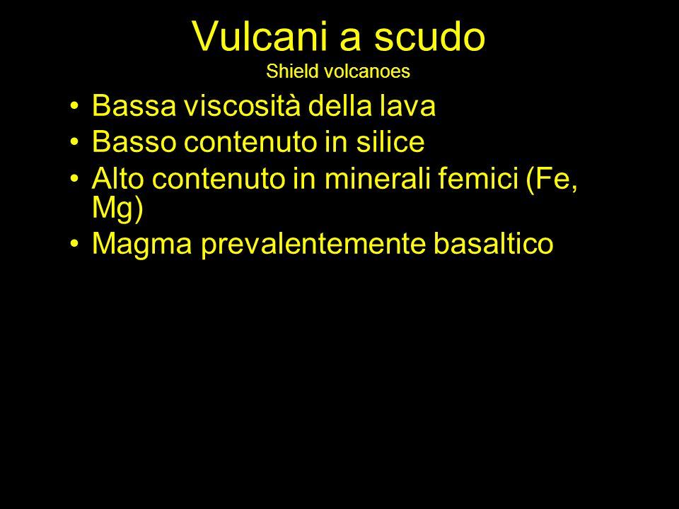 Vulcani a scudo Shield volcanoes
