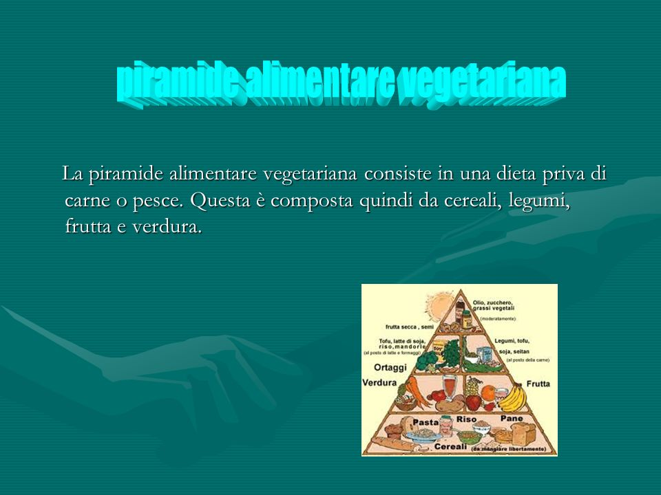 piramide alimentare vegetariana