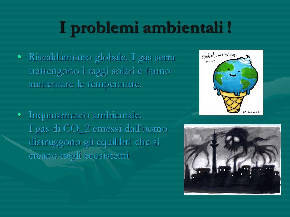 I problemi ambientali ! Riscaldamento globale. I gas serra