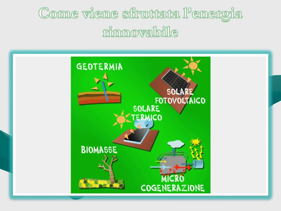 Come viene sfruttata l'energia rinnovabile