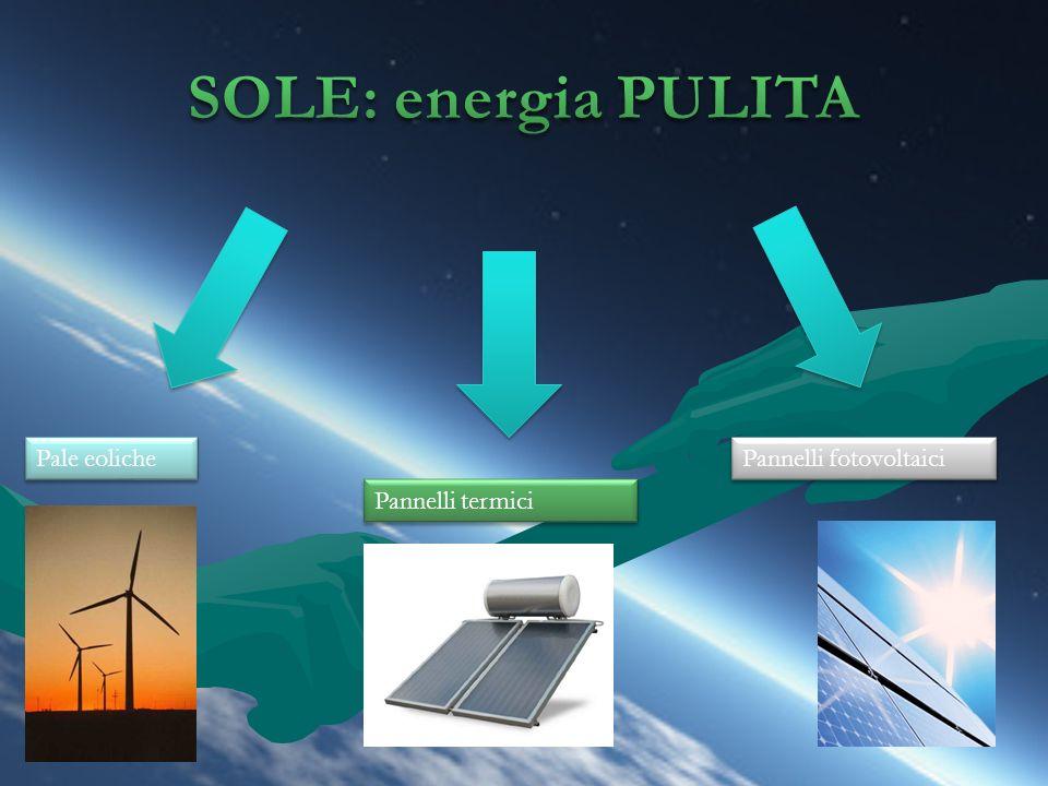SOLE: energia PULITA Pale eoliche Pannelli fotovoltaici