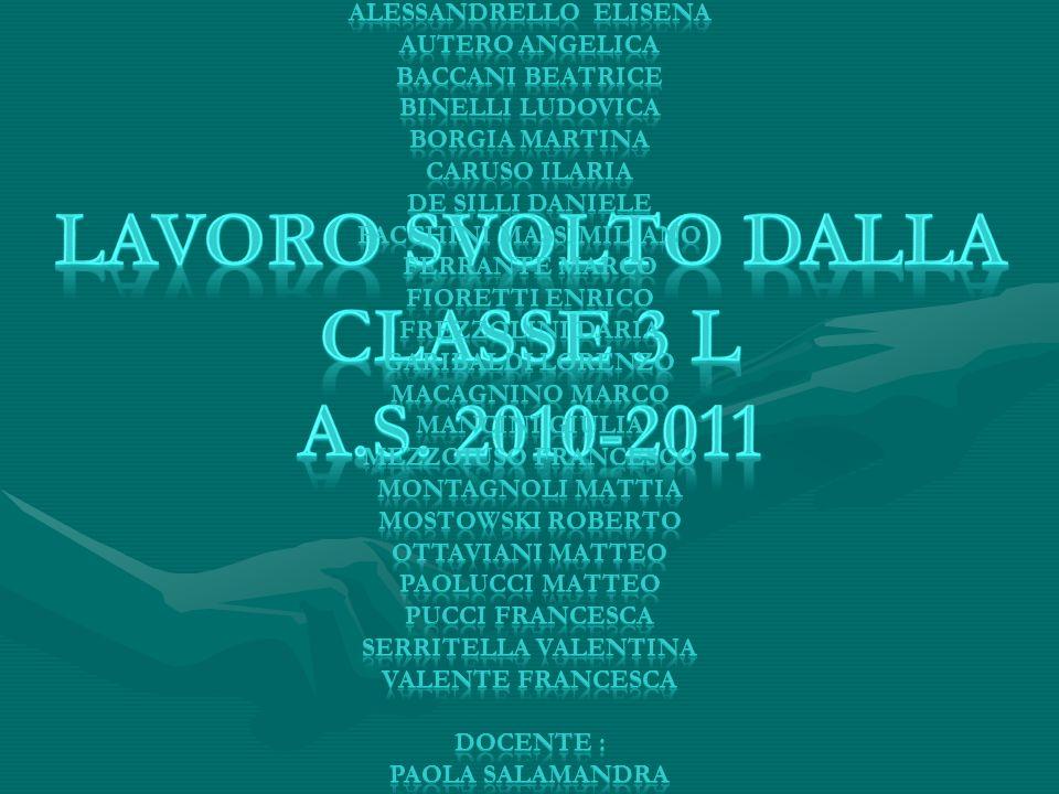 LAVORO SVOLTO DALLA CLASSE 3 l A.S. 2010-2011