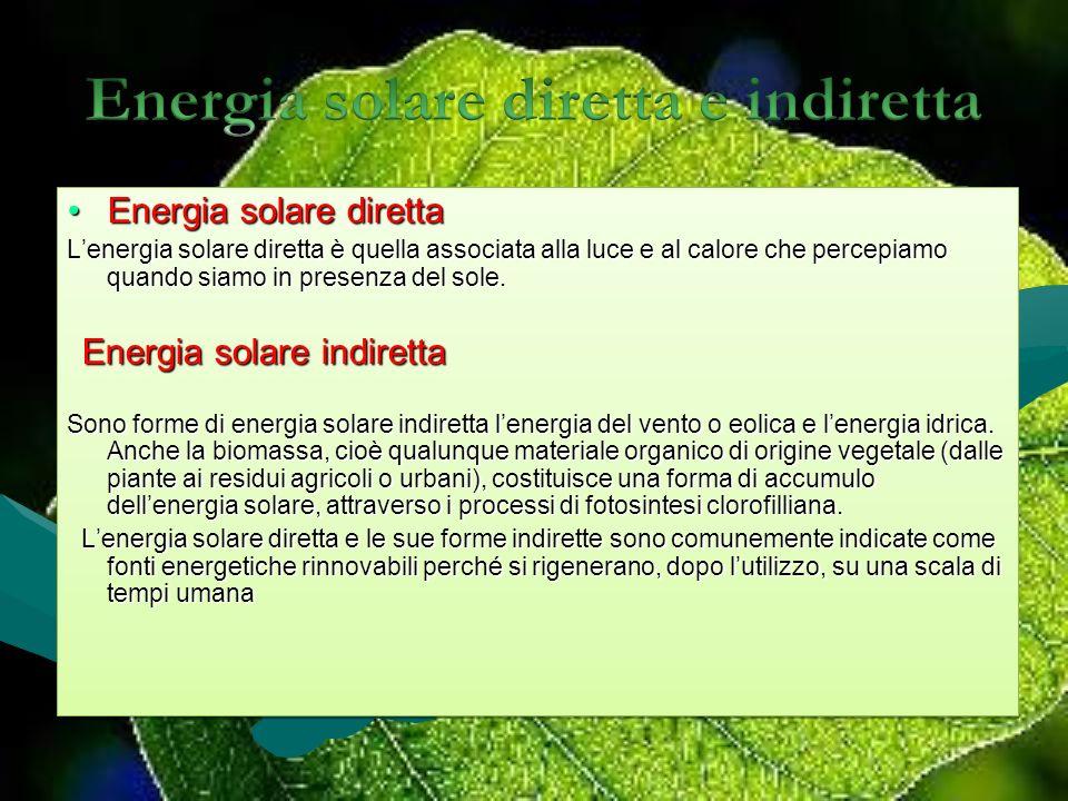 Energia solare diretta e indiretta