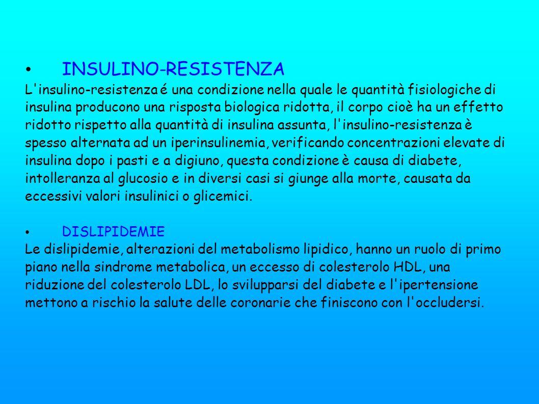 INSULINO-RESISTENZA L insulino-resistenza é una condizione nella quale le quantità fisiologiche di.