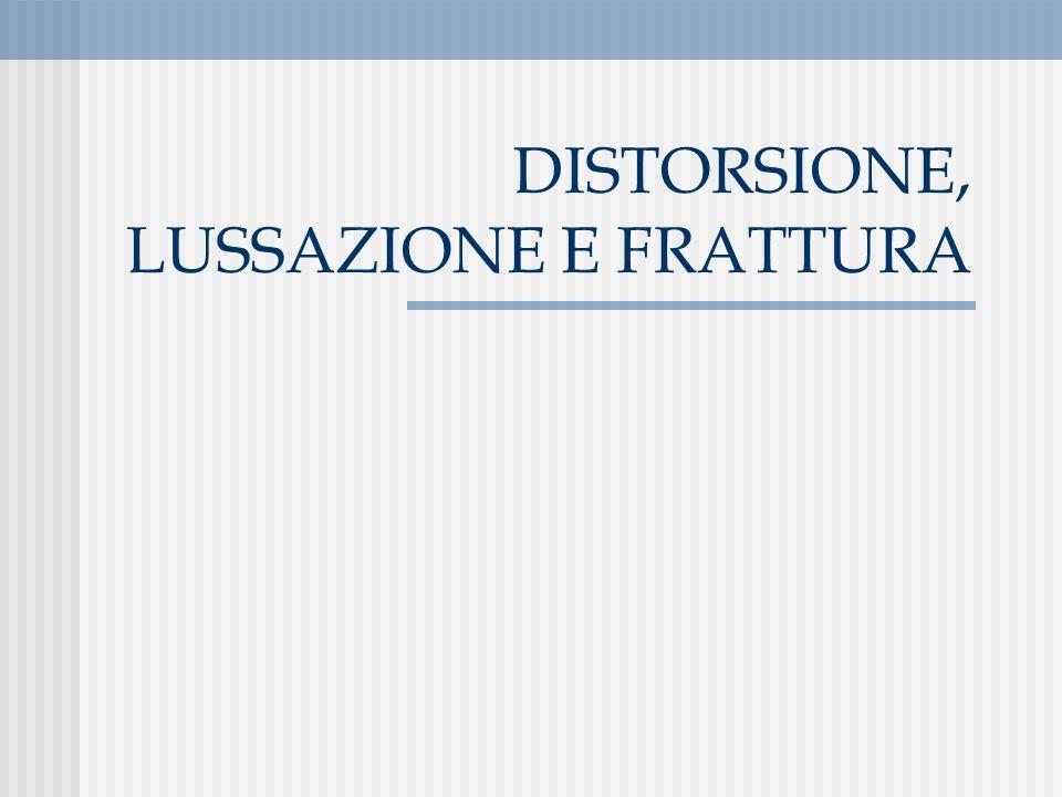 DISTORSIONE, LUSSAZIONE E FRATTURA