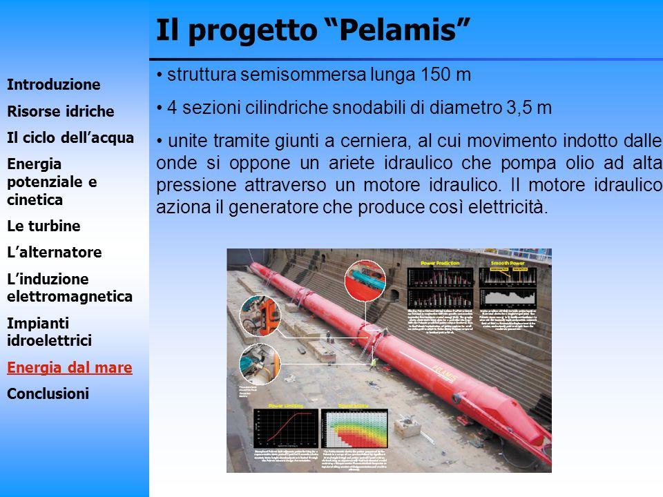 Il progetto Pelamis struttura semisommersa lunga 150 m