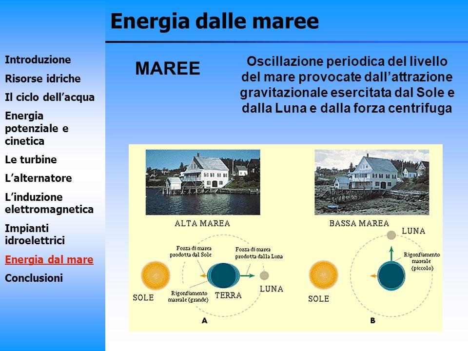 Energia dalle maree MAREE
