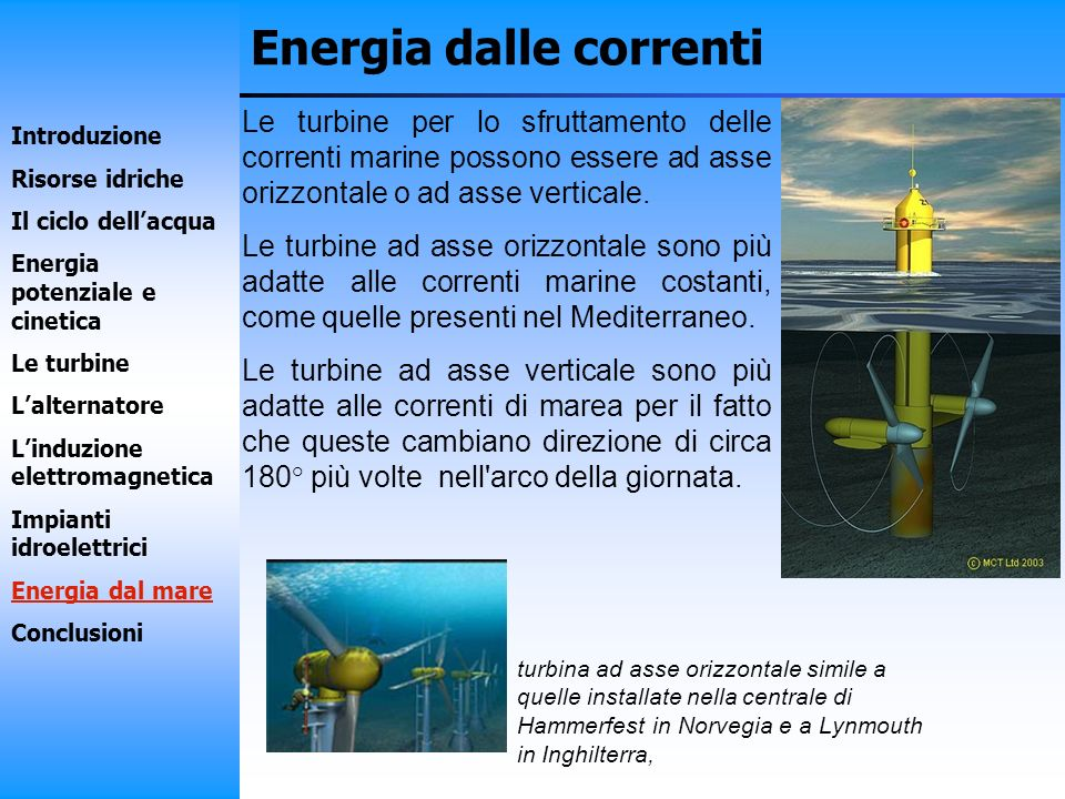 Energia dalle correnti