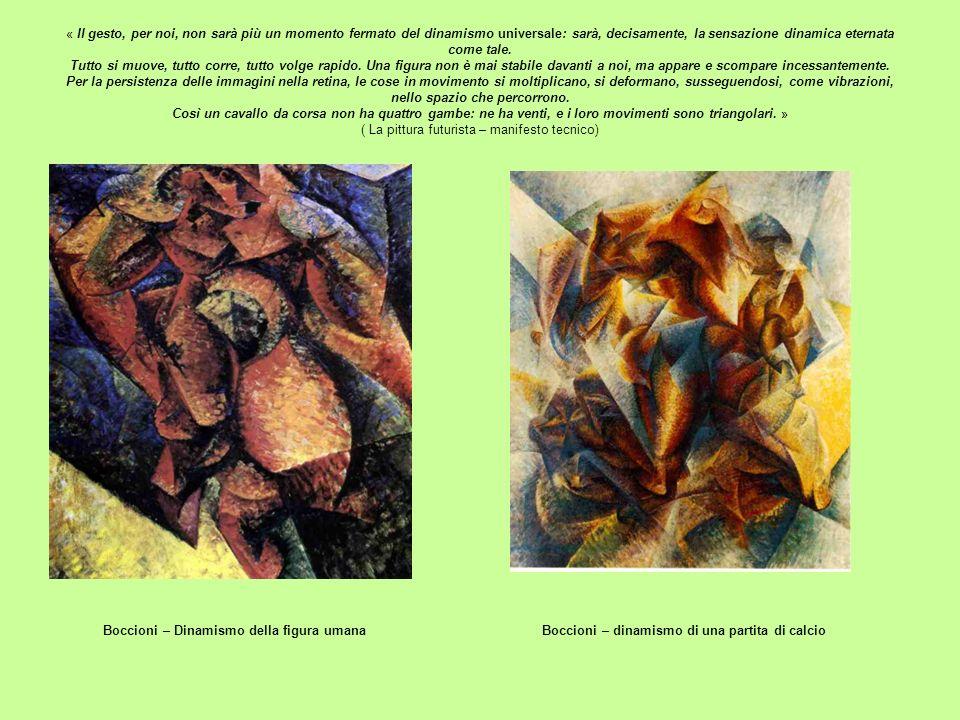 Boccioni – Dinamismo della figura umana