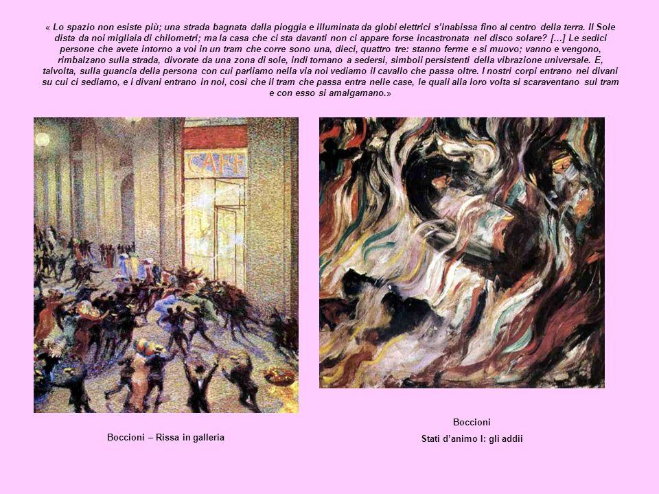Stati d'animo I: gli addii Boccioni – Rissa in galleria
