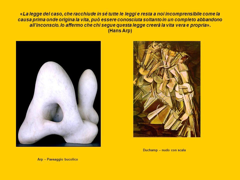 Duchamp – nudo con scala Arp – Paesaggio bucolico