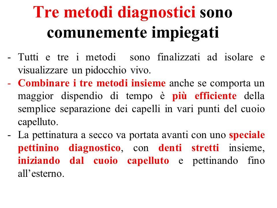 Tre metodi diagnostici sono comunemente impiegati