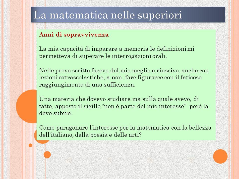 La matematica nelle superiori
