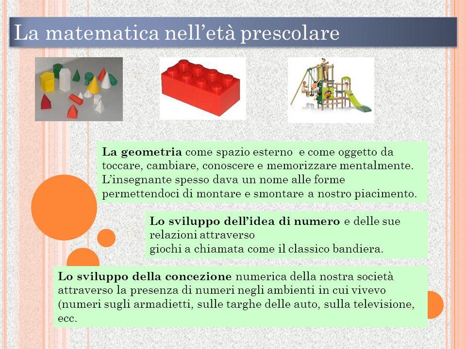 La matematica nell'età prescolare