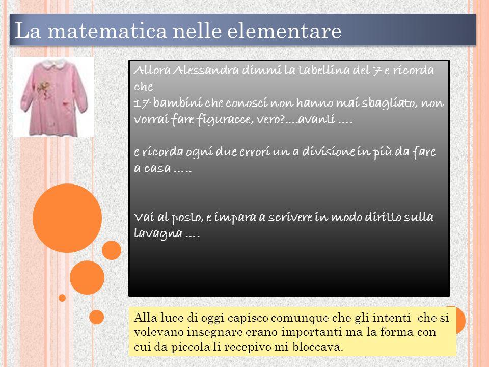 La matematica nelle elementare
