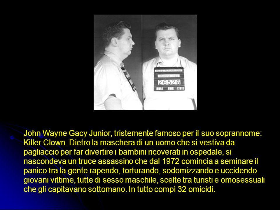 John Wayne Gacy Junior, tristemente famoso per il suo soprannome: Killer Clown.