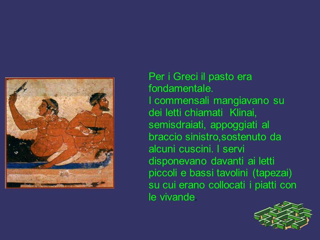 Per i Greci il pasto era fondamentale.