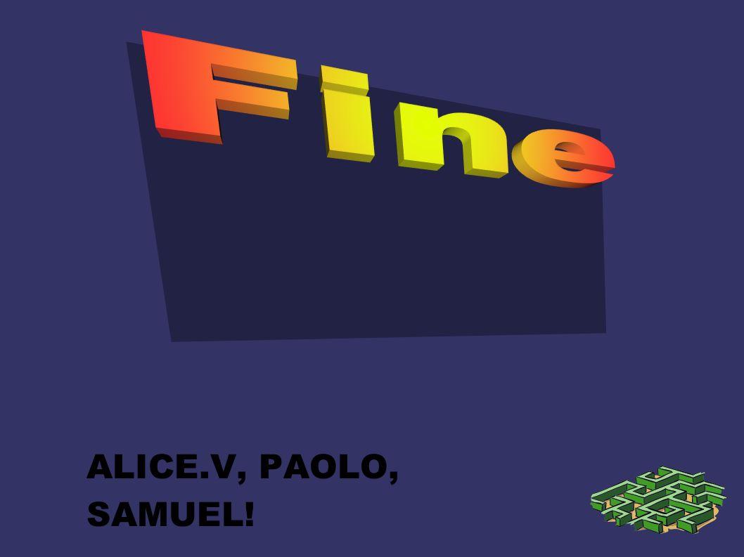 Fine ALICE.V, PAOLO, SAMUEL!