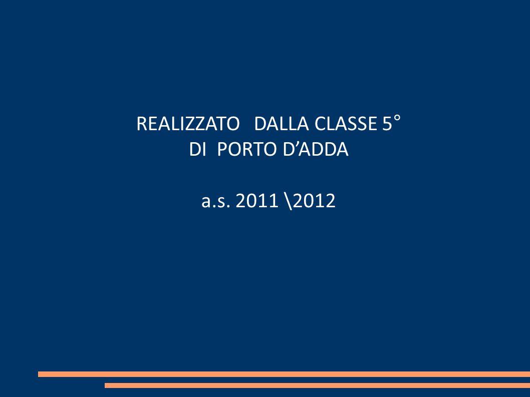 REALIZZATO DALLA CLASSE 5°