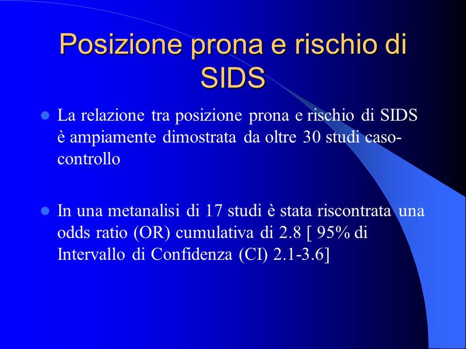Posizione prona e rischio di SIDS