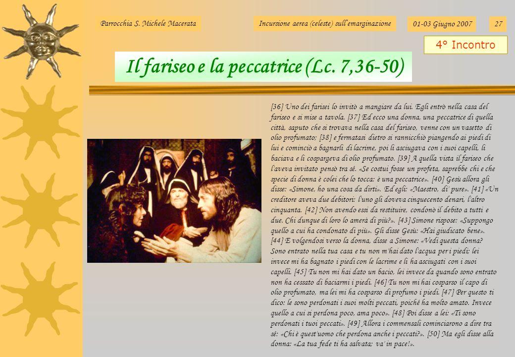 Il fariseo e la peccatrice (Lc. 7,36-50)