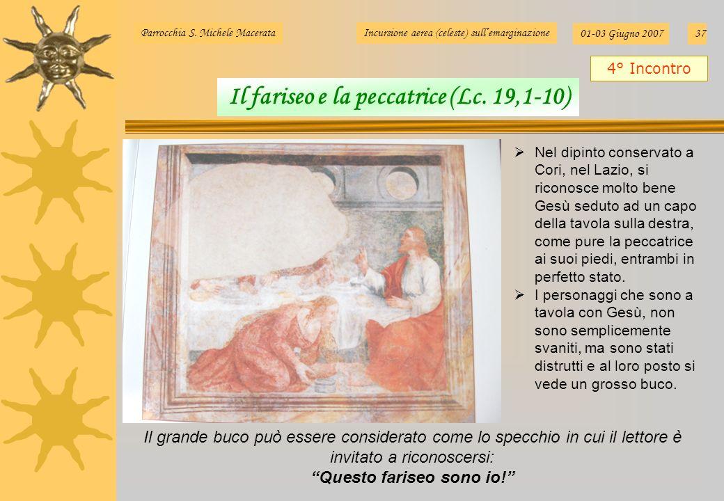 Il fariseo e la peccatrice (Lc. 19,1-10) Questo fariseo sono io!
