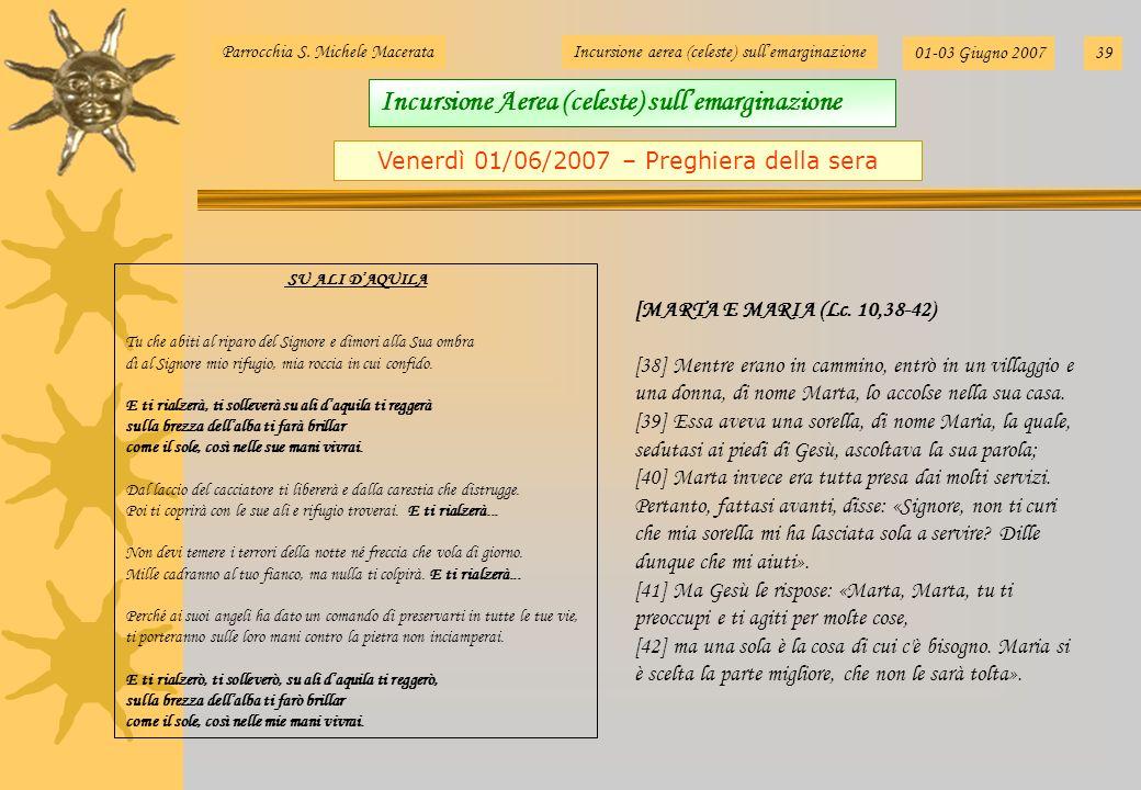 Venerdì 01/06/2007 – Preghiera della sera