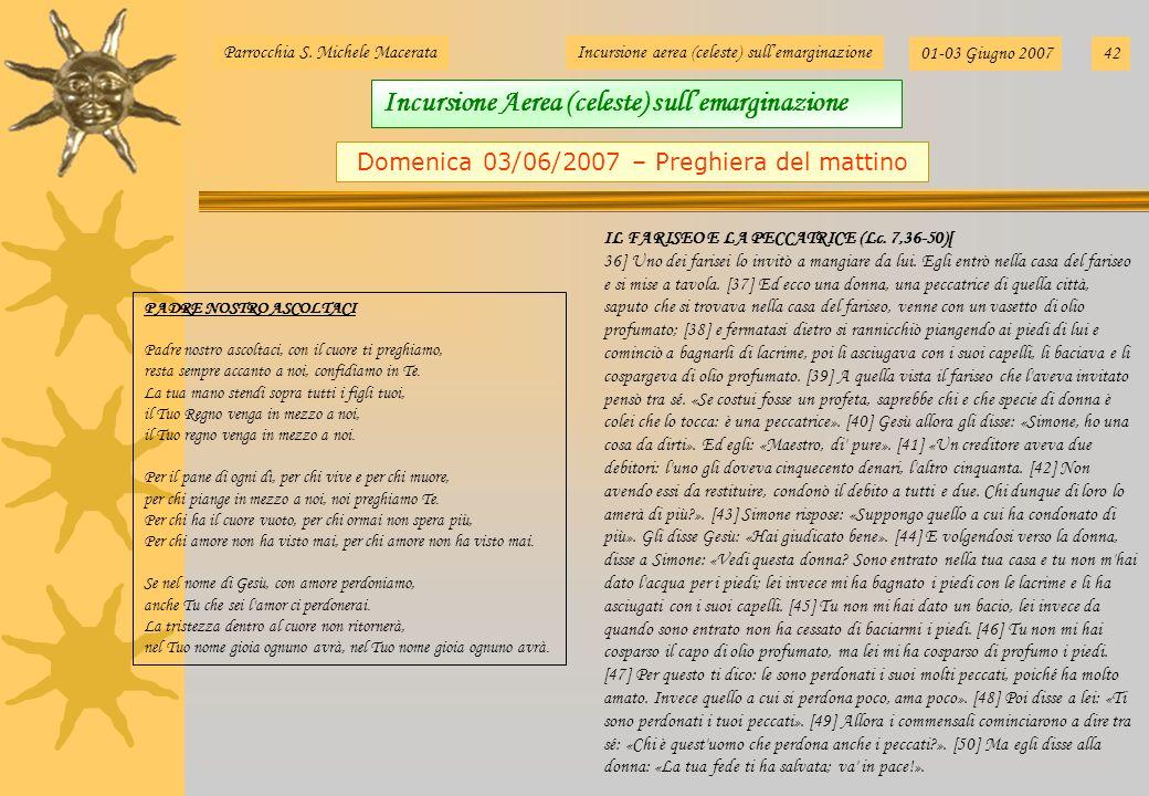 Domenica 03/06/2007 – Preghiera del mattino
