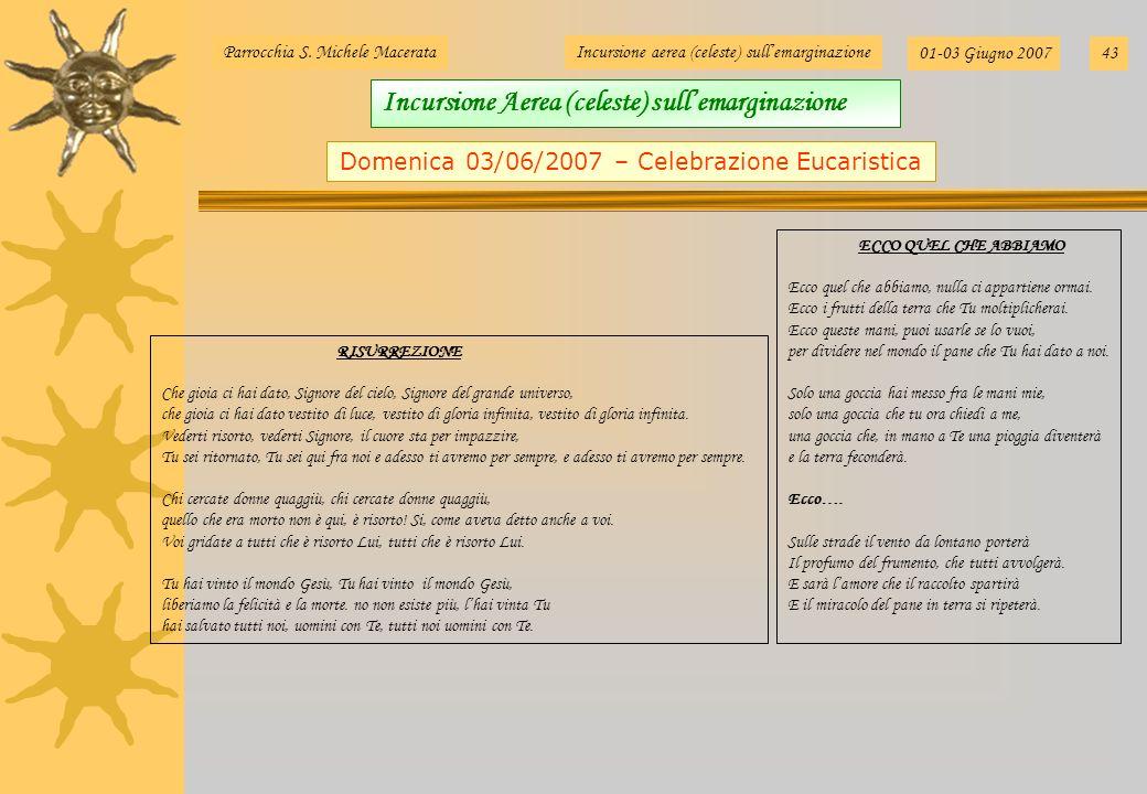 Domenica 03/06/2007 – Celebrazione Eucaristica