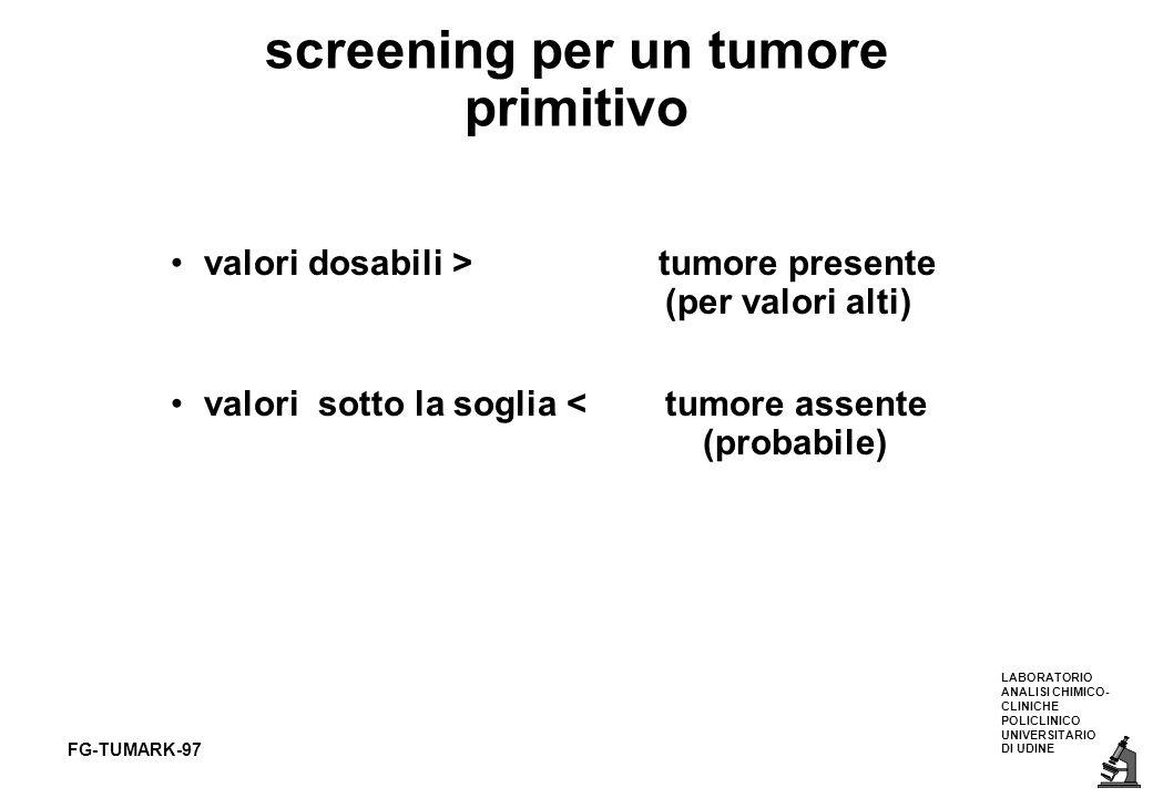 screening per un tumore primitivo