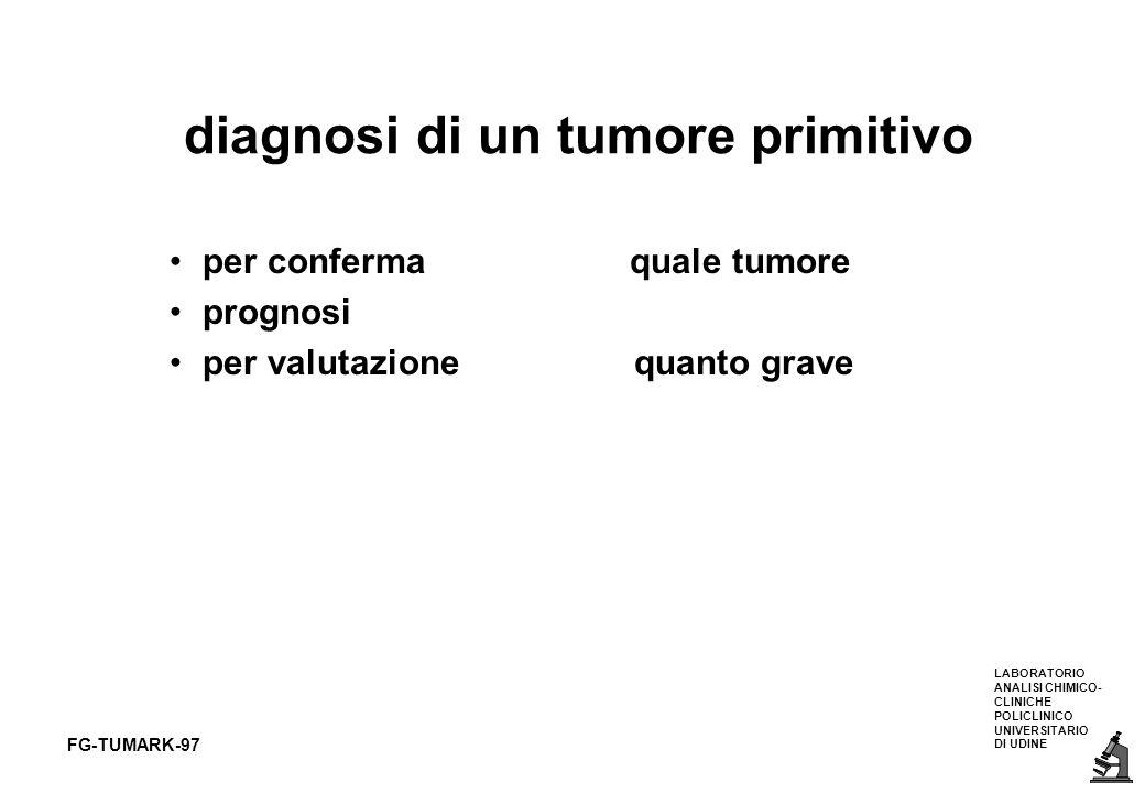 diagnosi di un tumore primitivo