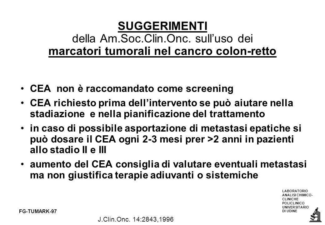 SUGGERIMENTI della Am. Soc. Clin. Onc