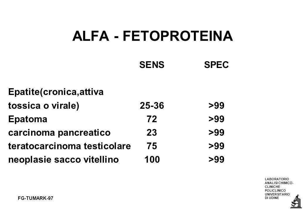 ALFA - FETOPROTEINA SENS SPEC Epatite(cronica,attiva