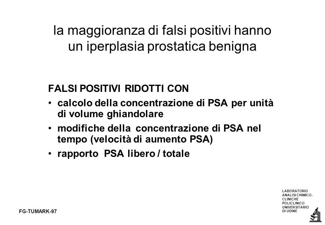 la maggioranza di falsi positivi hanno un iperplasia prostatica benigna