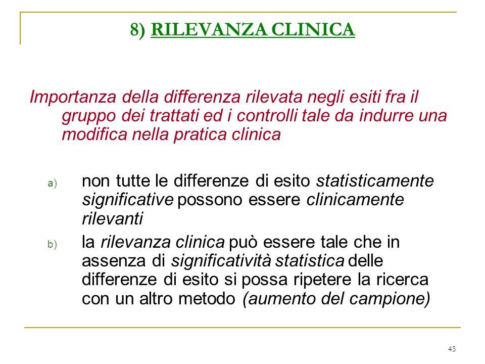 8) RILEVANZA CLINICA