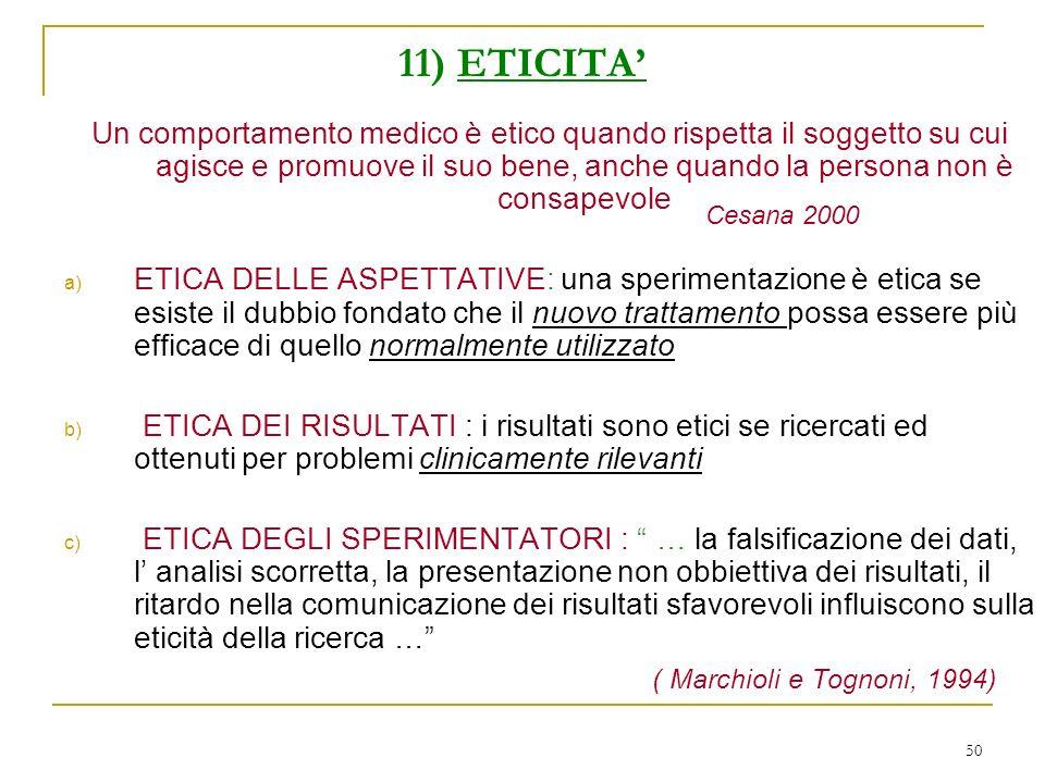 11) ETICITA'