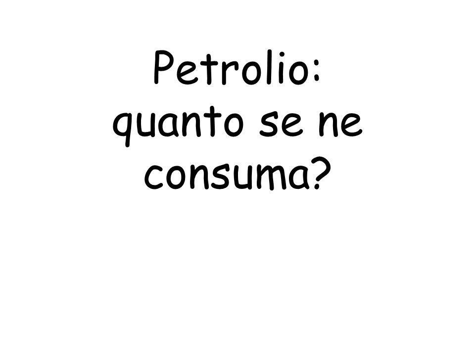 Petrolio: quanto se ne consuma