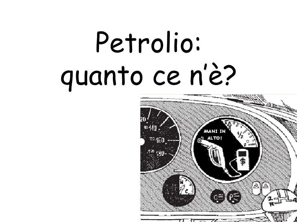 Petrolio: quanto ce n'è